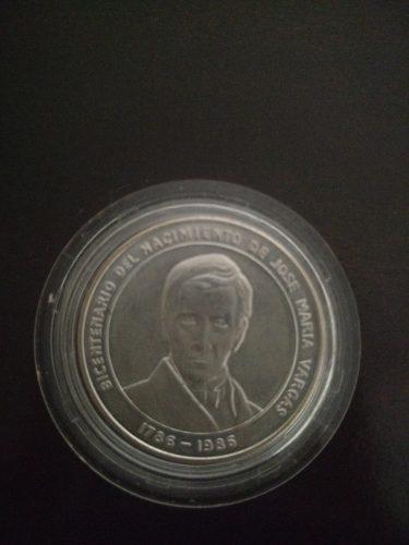 Moneda De Plata Jose Maria Vargas ()