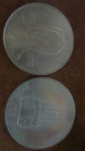 Moneda De Plata Lei grms 100 Bolivares