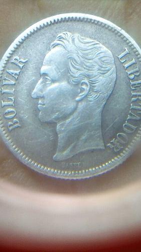 Moneda De Un Bolivar De Plata 40mil Soberanos