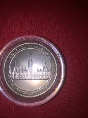 Moneda Jose Maria Vargas Plata Ley 900