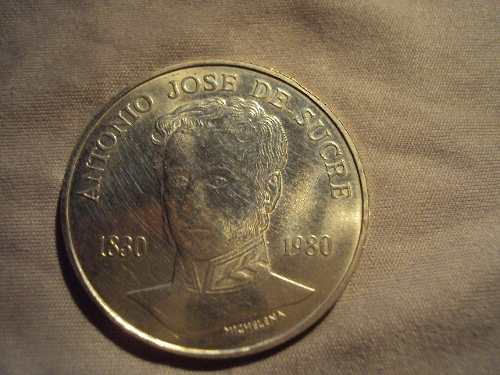 Moneda Sesquicentenario Muerte De Antonio Jose De Sucre