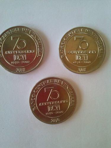 Monedas De 50 Céntimos, Conmermorativa 70 Aniversario Bcv