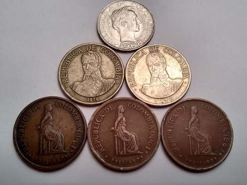 Monedas De Colección Antiguas (colombianas).