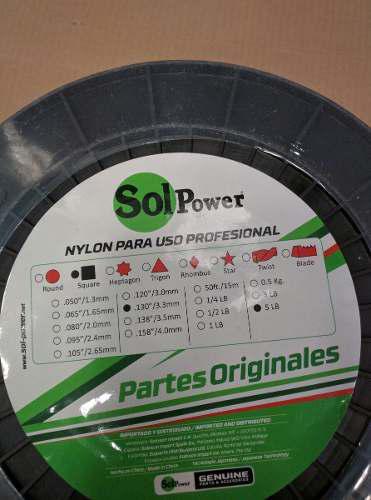 Nylon Corta Grama Profesional 0.130 /3.3mm. 5 Lb 210 Mts