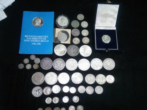 Vendo Colección Variada De Monedas De Plata..