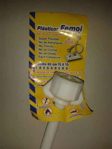 Canilla Plastica Para Fregadero 60cm 1/2x1/2 Femoi