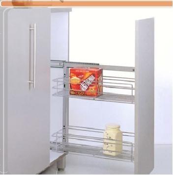 Condimentero Con Freno Para Mueble De 15cm Herrajes Cocinas