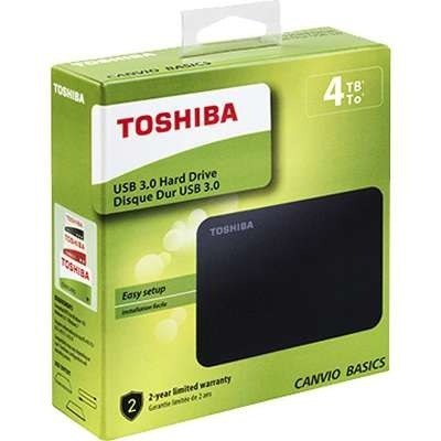 Disco Duro Externo Toshiba 4tb Usb 3.0 Canvio Negro