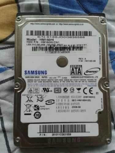 Disco Duro Marca Samsung De 160 Gb Para Laptop.