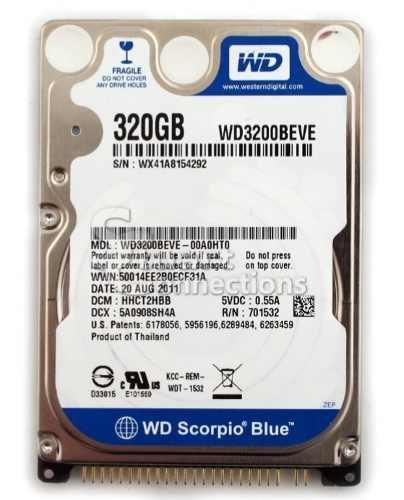 Disco Duro Sata 320 Gb Westerndigital Para Laptop