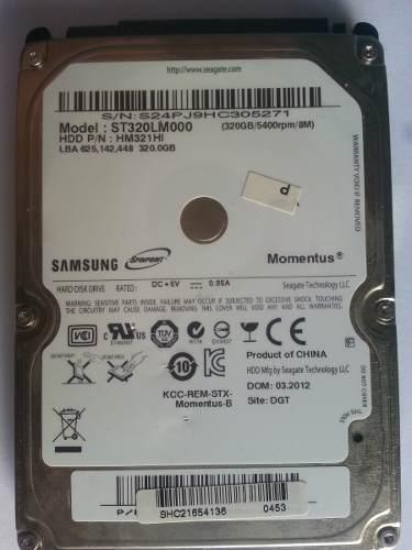 Disco Duro Sata Para Laptop 320gb Samsung