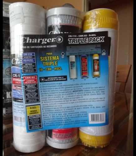 Kit De Cartuchos Recambio Para Filtro De Agua Triple Charger