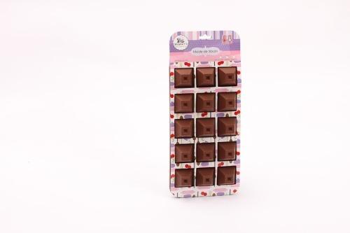 Molde De Silicón Para Bombón Chocolate Trapecios (fda)