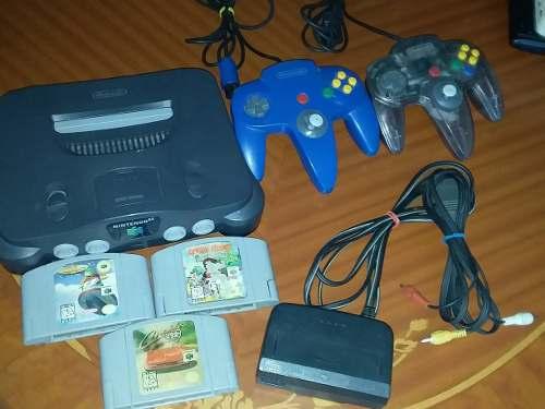 Nintendo 64 + 2 Contrles + 3 Juegos