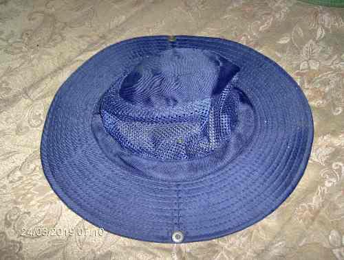 Sombrero Azul Malla Camping Pesca Deporte Avila Sol Lluvia