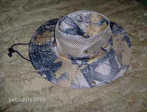 Sombrero Ramas Malla Camping Pesca Deporte Avila Sol Lluvia