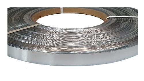Tapa Canto Aluminio Alto Brillo 23mm X 1mm Pvc Cocinas