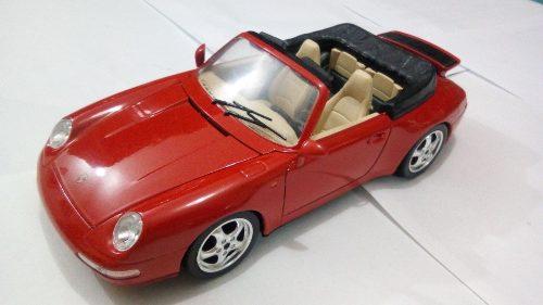 Carro De Colección Porsche Carrera 911 Burago Escala 1/18