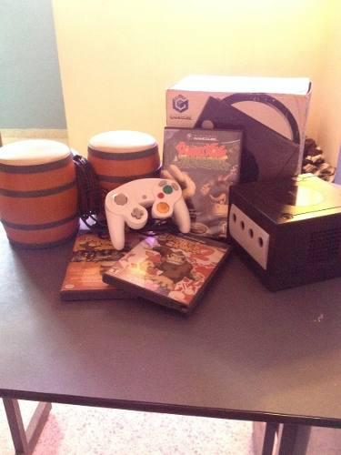 Gamecube Con Juegos De Donkey Kong Y Bongoes