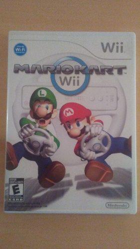 Juego Mario Kart Y Dos Volantes Nintendo Wii, Originales