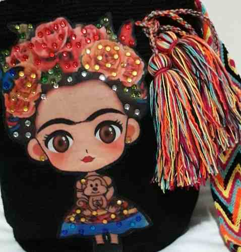 Mochila Wayuu Frida Kahlo Tumundowayuu