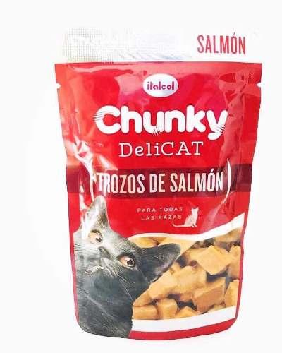 Chunki Deli Cat 80g De Comida Para Gato A Base De Salmón