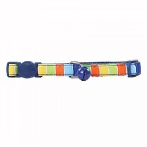 Collar Para Gato Ajustable De Nylon Color Azul  Cm
