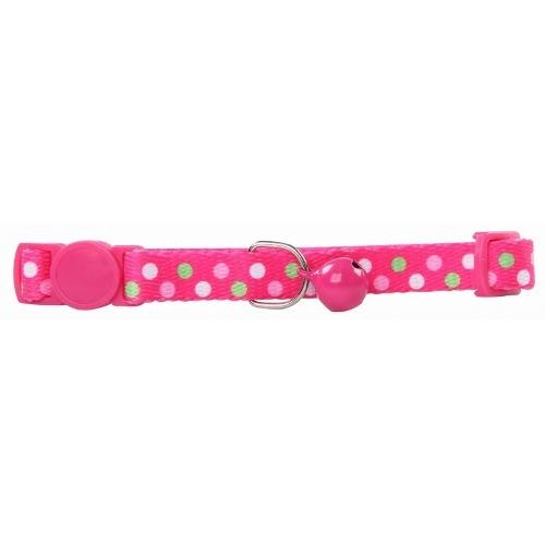 Collar Para Gato Ajustable De Nylon Color Rosa  Cm