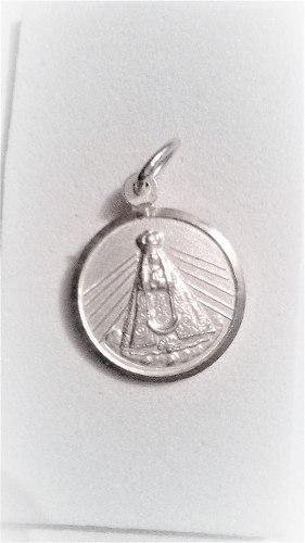 Medalla De Virgen Del Valle Plata 925 Excelente Calidad