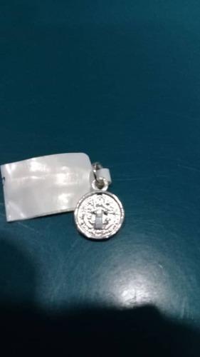 Medalla San Benito En Plata De Ley 925 Nacional