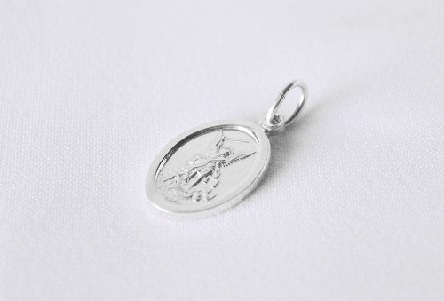 Medalla San Miguel Arcangel De Plata 925 Excelente Calidad