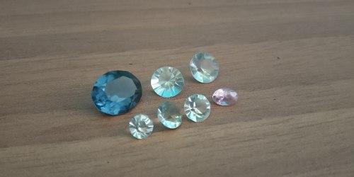 Piedras Cristales Facetadas Originales Para Orfebreria.