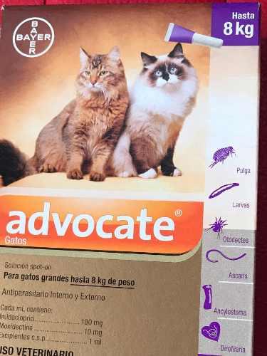 Pipetas Para Gatos Hasta 8 Kg Marca Bayer