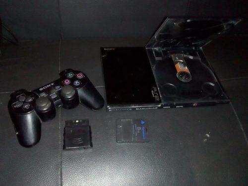 Playstation 2 Chip Y Guitarra Guitar Hero En Buen Estado !