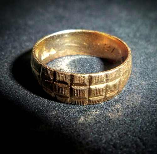 Precioso Anillo De Oro 18k Matrimonio 4.47gr