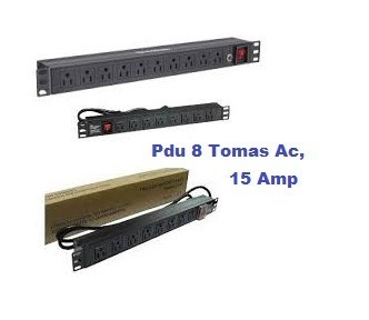 Regleta Pdu 8 Tomas Ac, 15 Amp. Electrica Rackeable. On Of