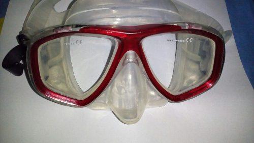 Careta De Buceo Profesional Vidrio Templado