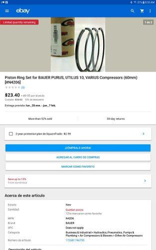 Compresor De Buceo Bauer.
