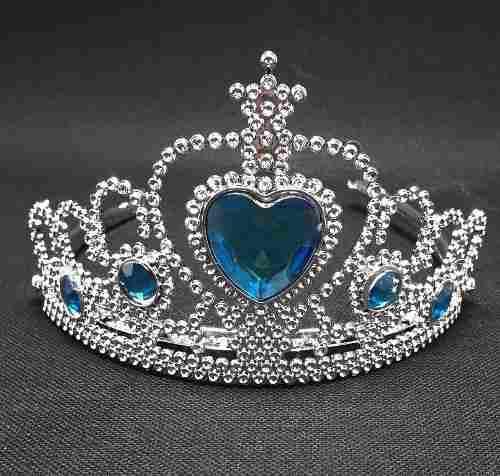 Corona De Princesa Con Gemas Azul Turquesa