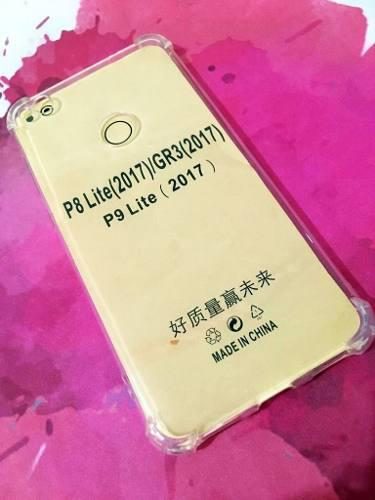 Estuche Forro Antigolpe Huawei P8 P9 Lite 2017 Transparente