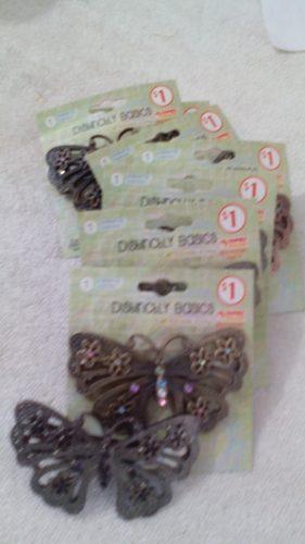 Gancho De Bronce Antiguo De Mariposa Para El Cabello