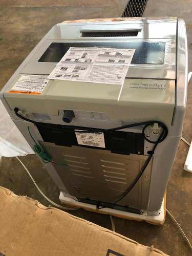 Lavadora Samsung De 7kg Wa89v3 Gris Automático Nueva