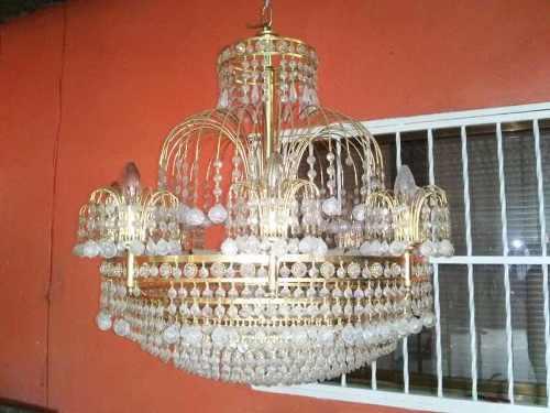 Lámparas Bañadas En Oro Con Cristales De Swarovski