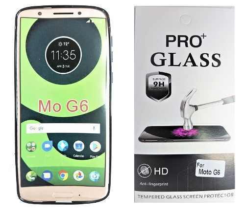 Motorola Moto G6 Forro + Vidrio Templado De Dureza 9h
