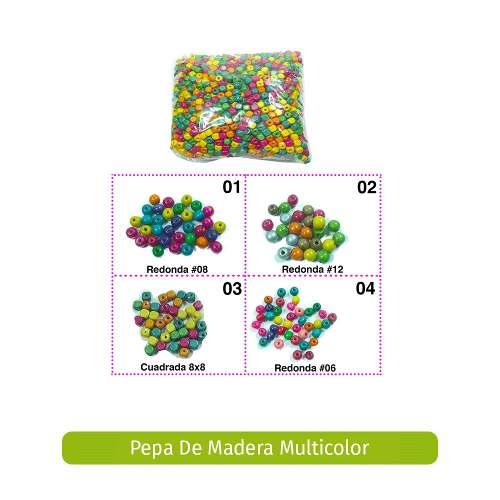 Pepa De Madera Multicolor Y Unicolor 450grs Variedad