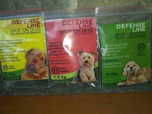 Pipetas Pulgas Y Garrapatas Defense Line Spot On Dog