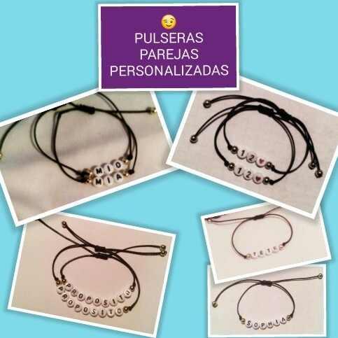 Pulseras Para Parejas Personalizadas - Amor Y Amistad!!