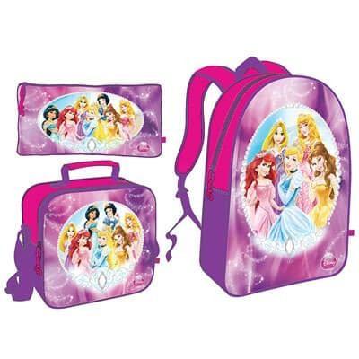 Set De Bolso Morral Princesas Barbie Frozen Niñas Capi