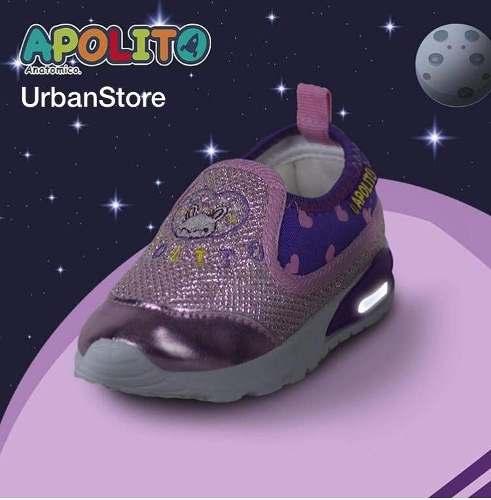 Zapatos Originales Apolito Con Luces Para Niñas.