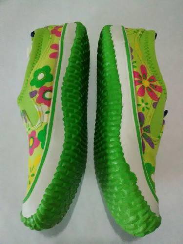 Zapatos Para Niñas Color Verde Tallas 32 Y 33 Solamente.